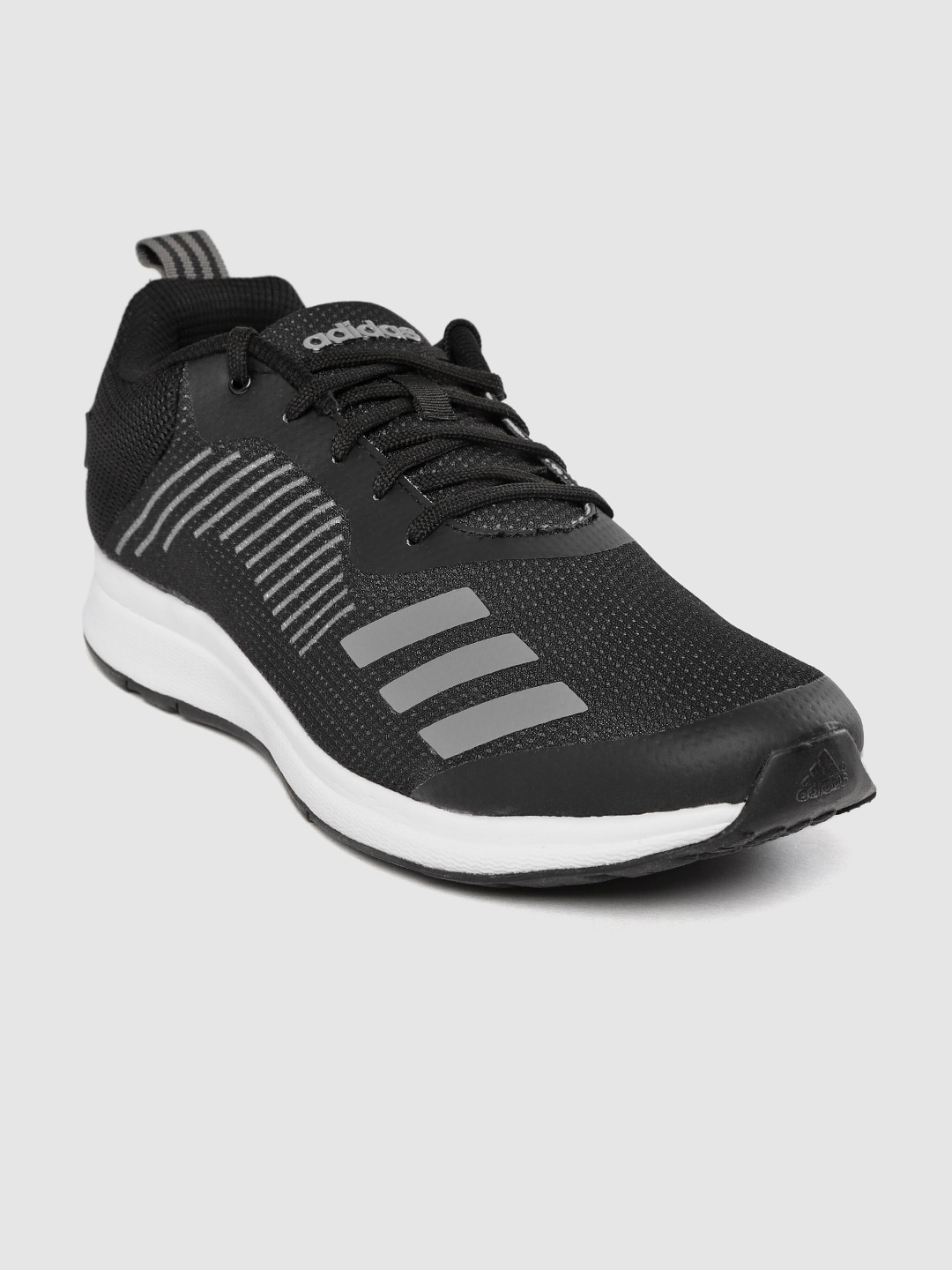 Black Solid Puaro Running Shoes