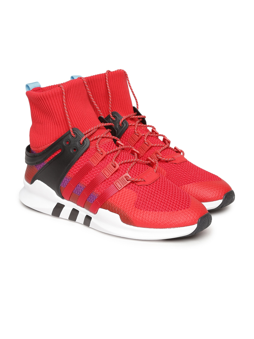 Red Leather High-Top EQT SUPPORT ADV WINTER Sneakers
