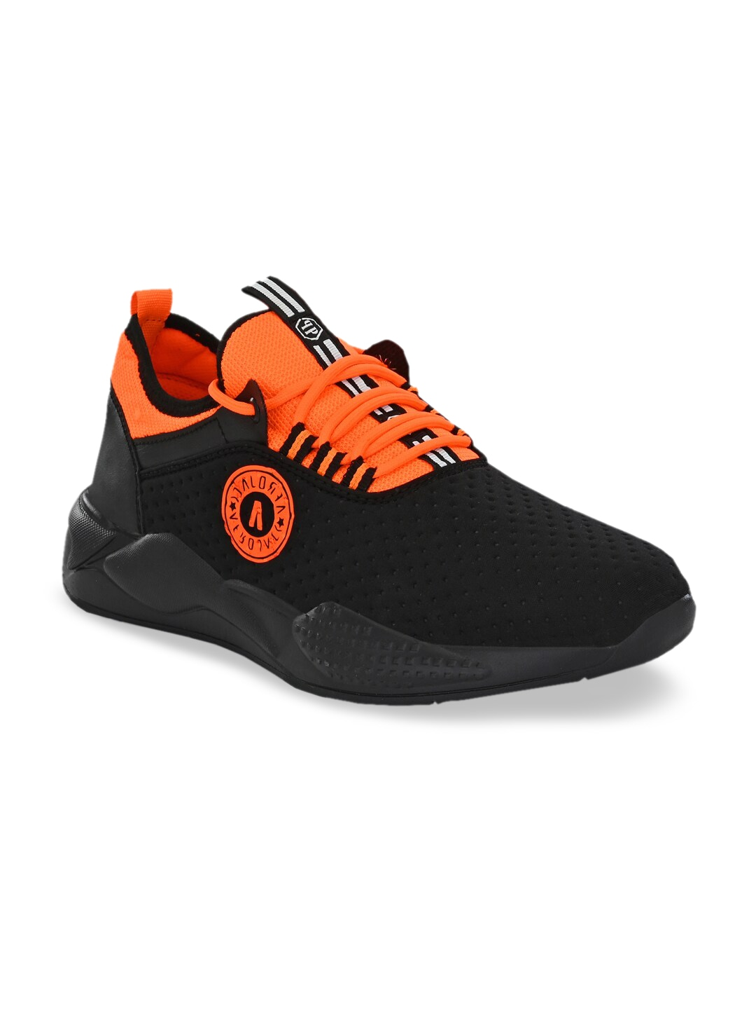 Black & Orange Textile Training or Gym Shoes