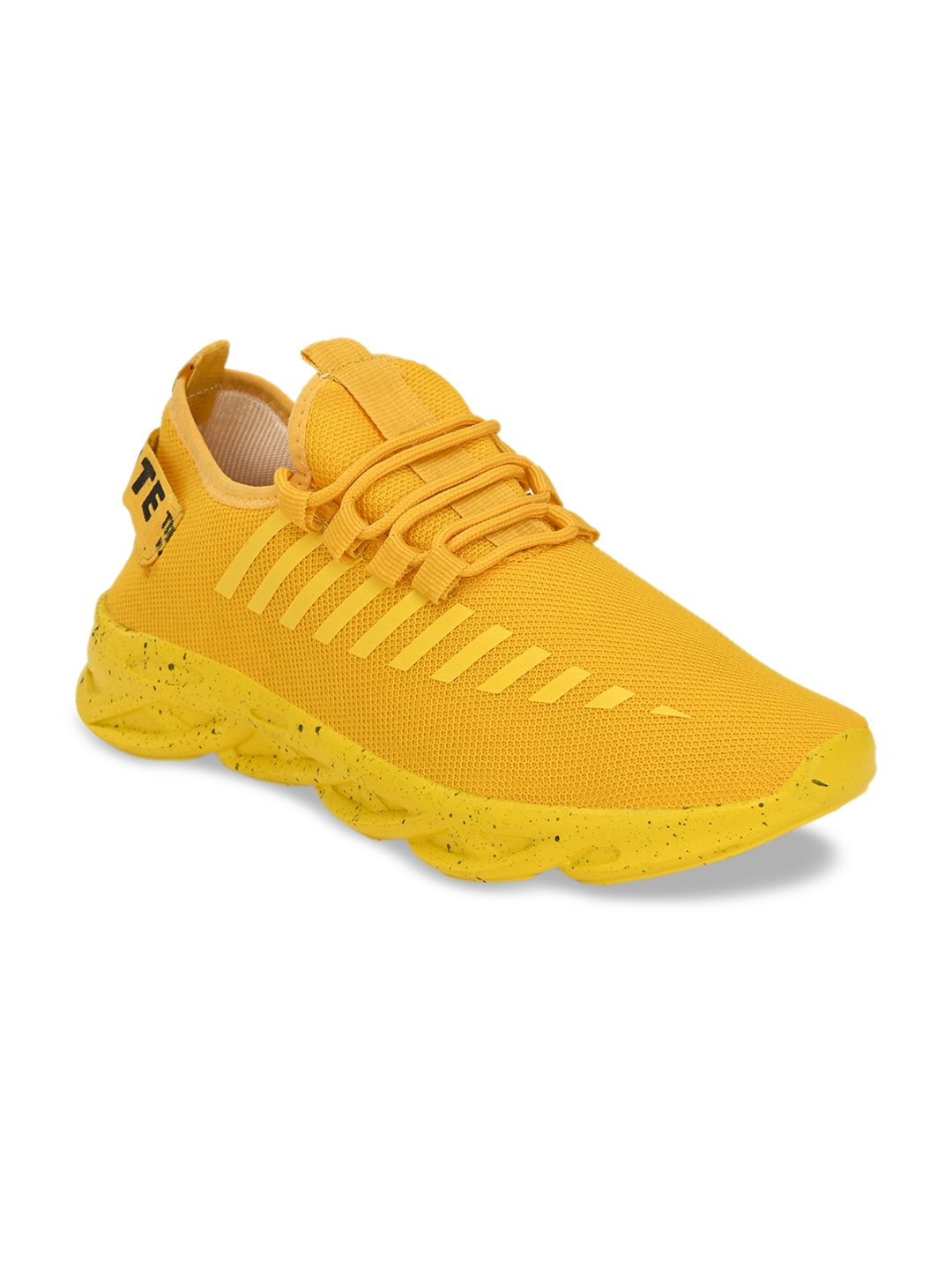 Yellow Woven Design Sneakers