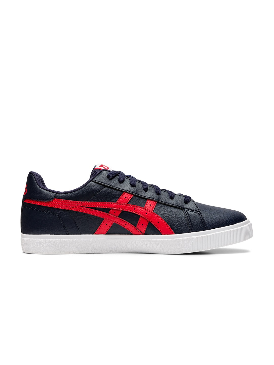 Navy Blue & Red Solid Classic CT Sneakers