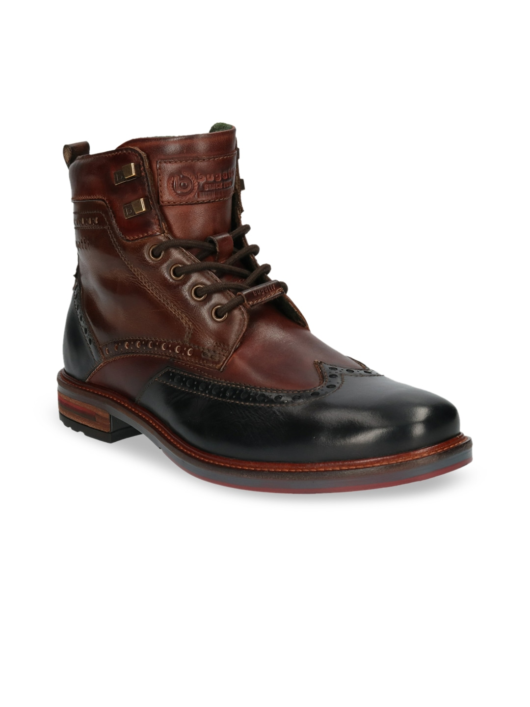 Brown Leather Semiformal High Top Boots