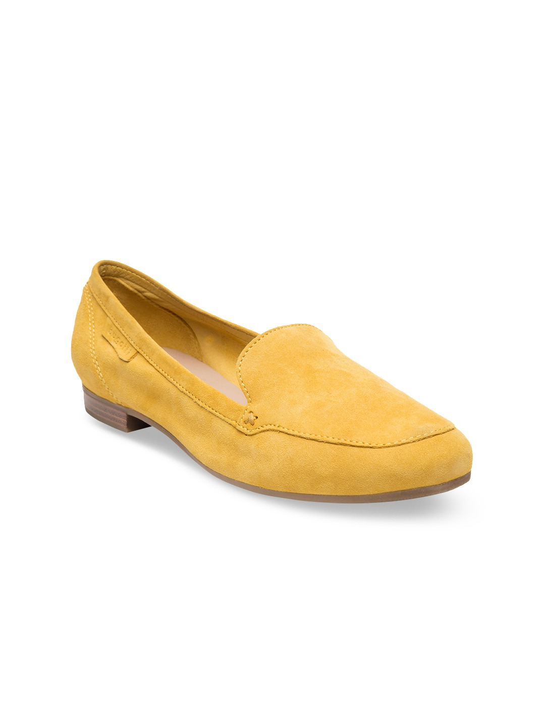 Yellow Solid Loafers