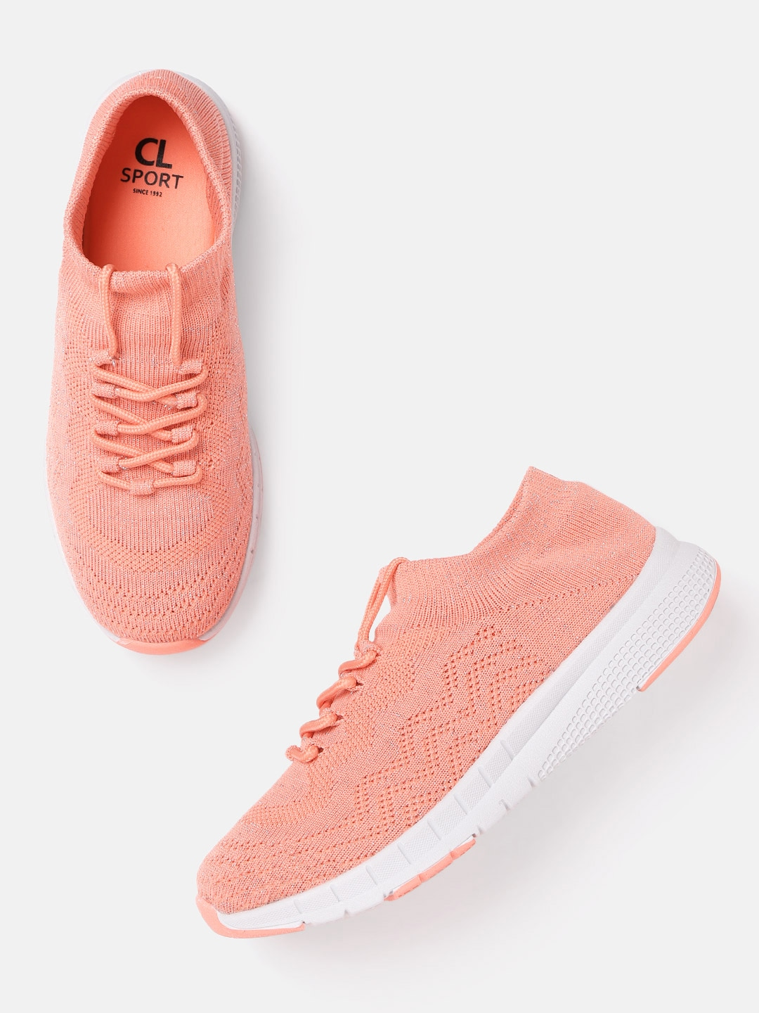 Peach-Coloured Running Shoes