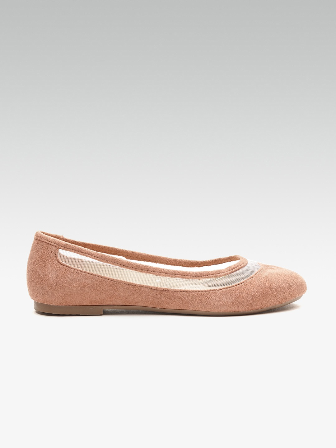 Peach-Coloured Solid Ballerinas