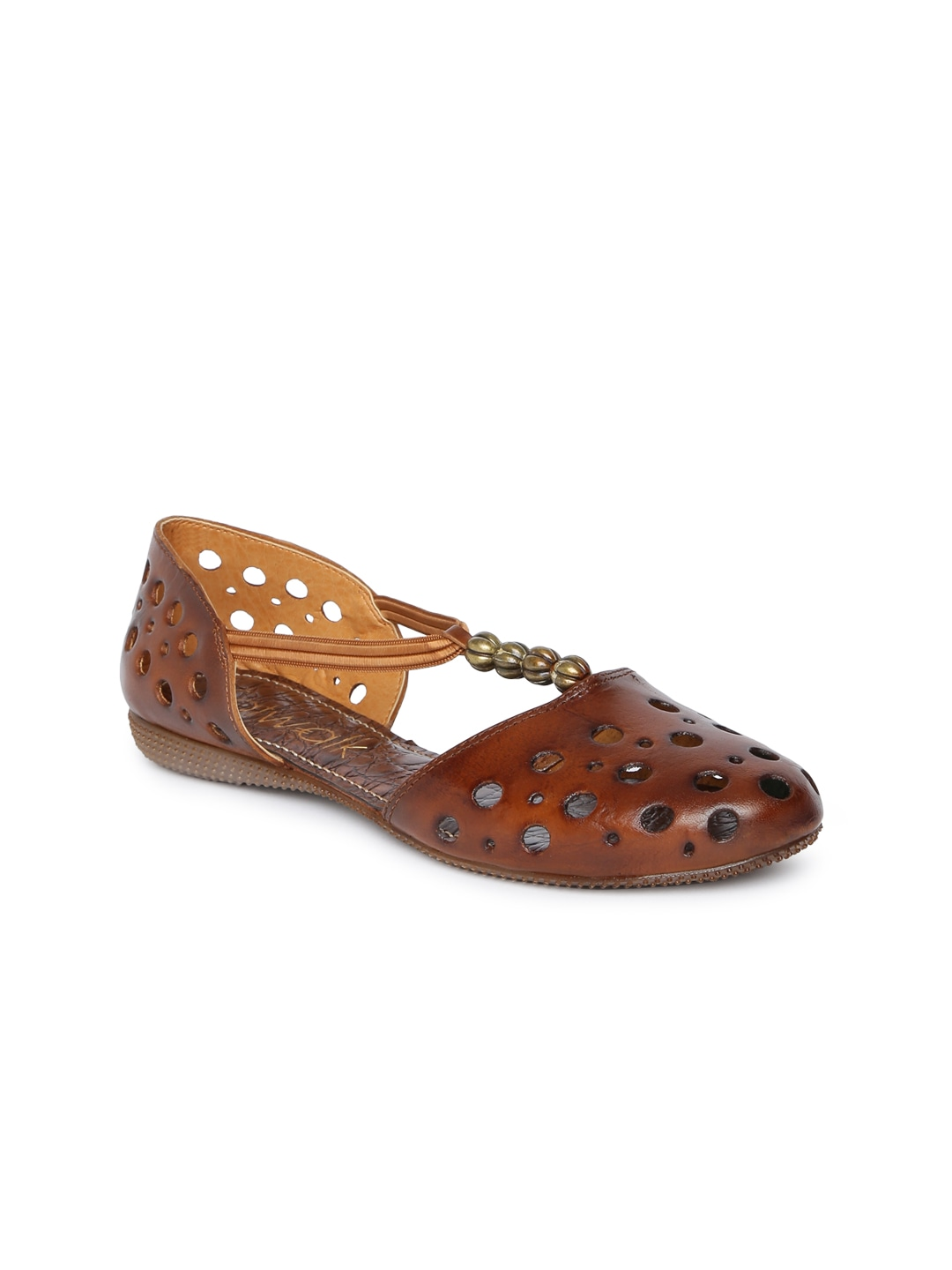 Brown Solid Synthetic Flats