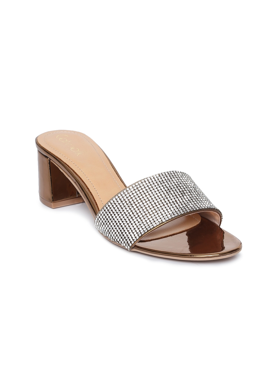 Silver-Toned Open Toe Sandals