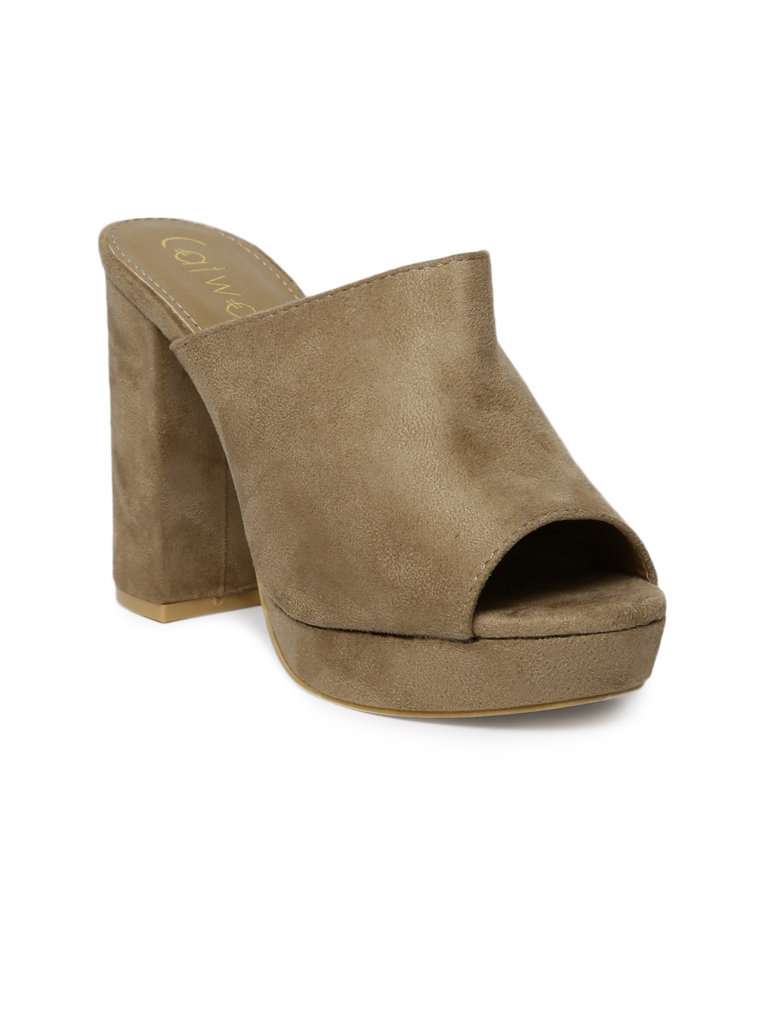 Taupe Solid Peep Toes