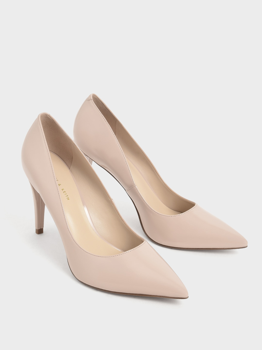 Nude Solid Pumps