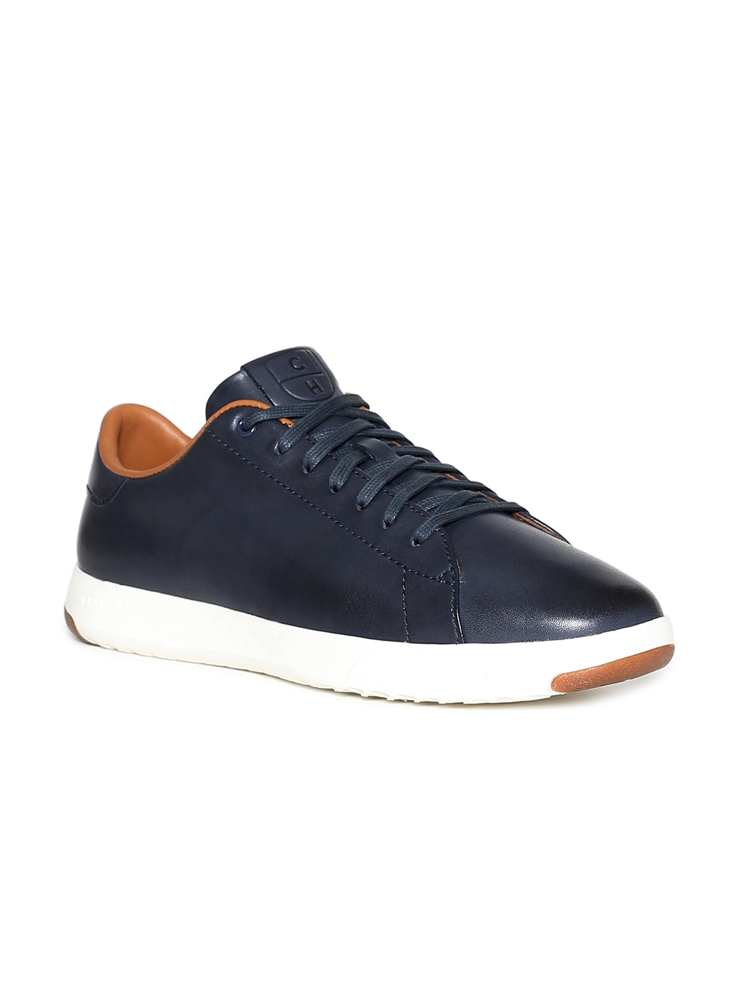 Blue Leather Sneakers