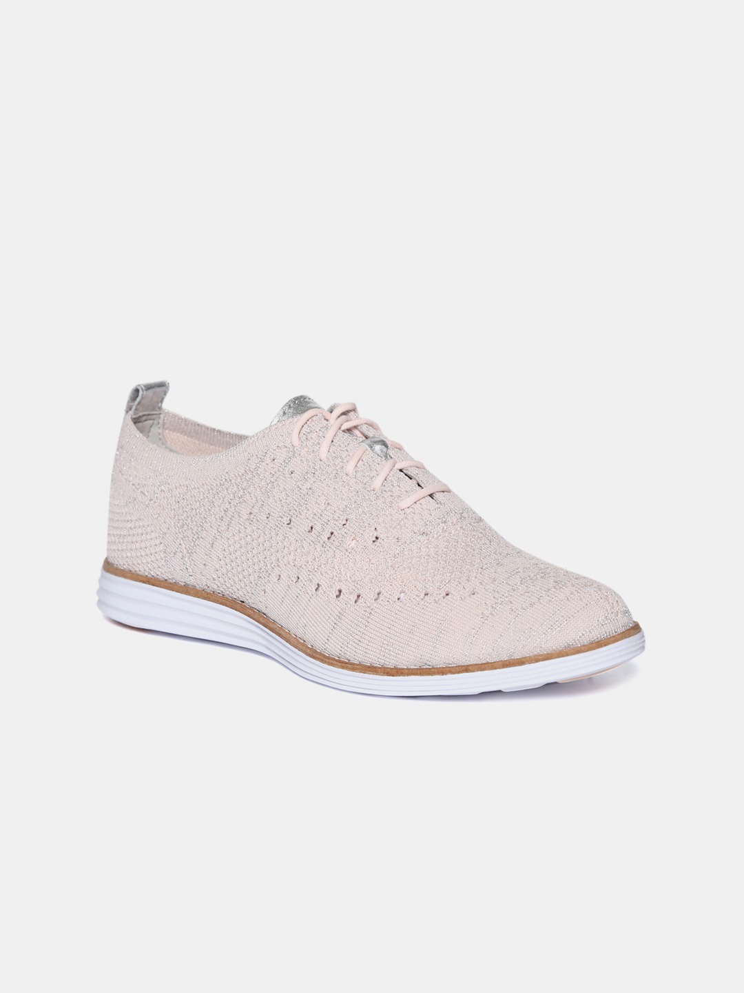 Pink Woven Design Sneakers