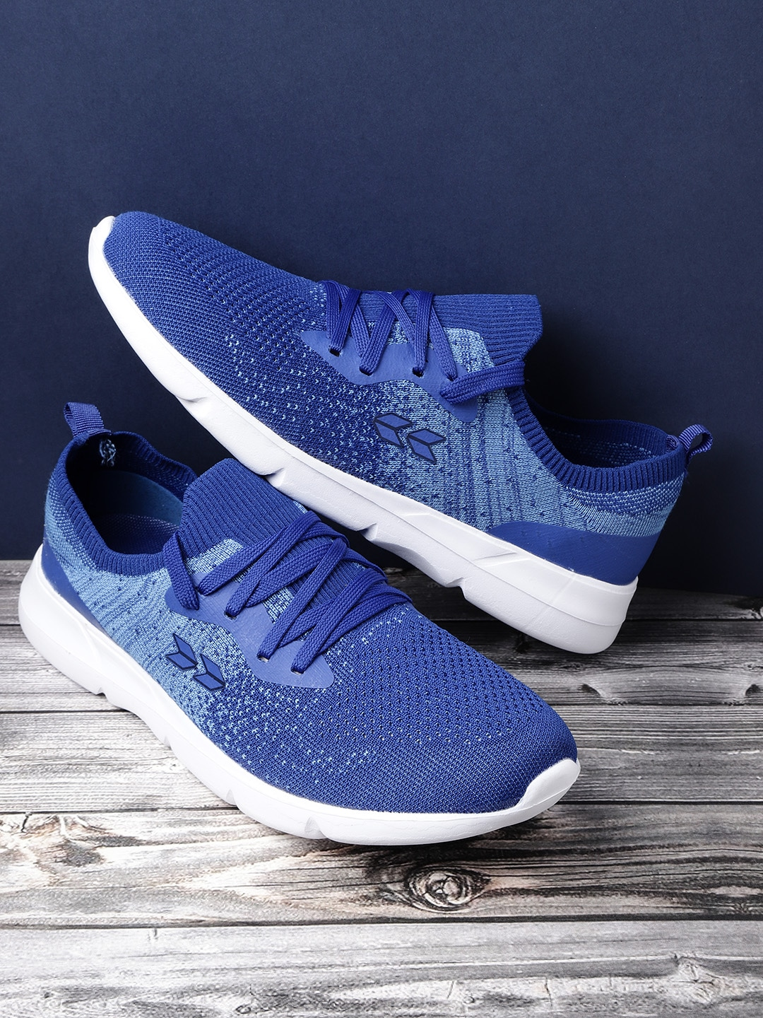 Blue Patterned Running Shoes