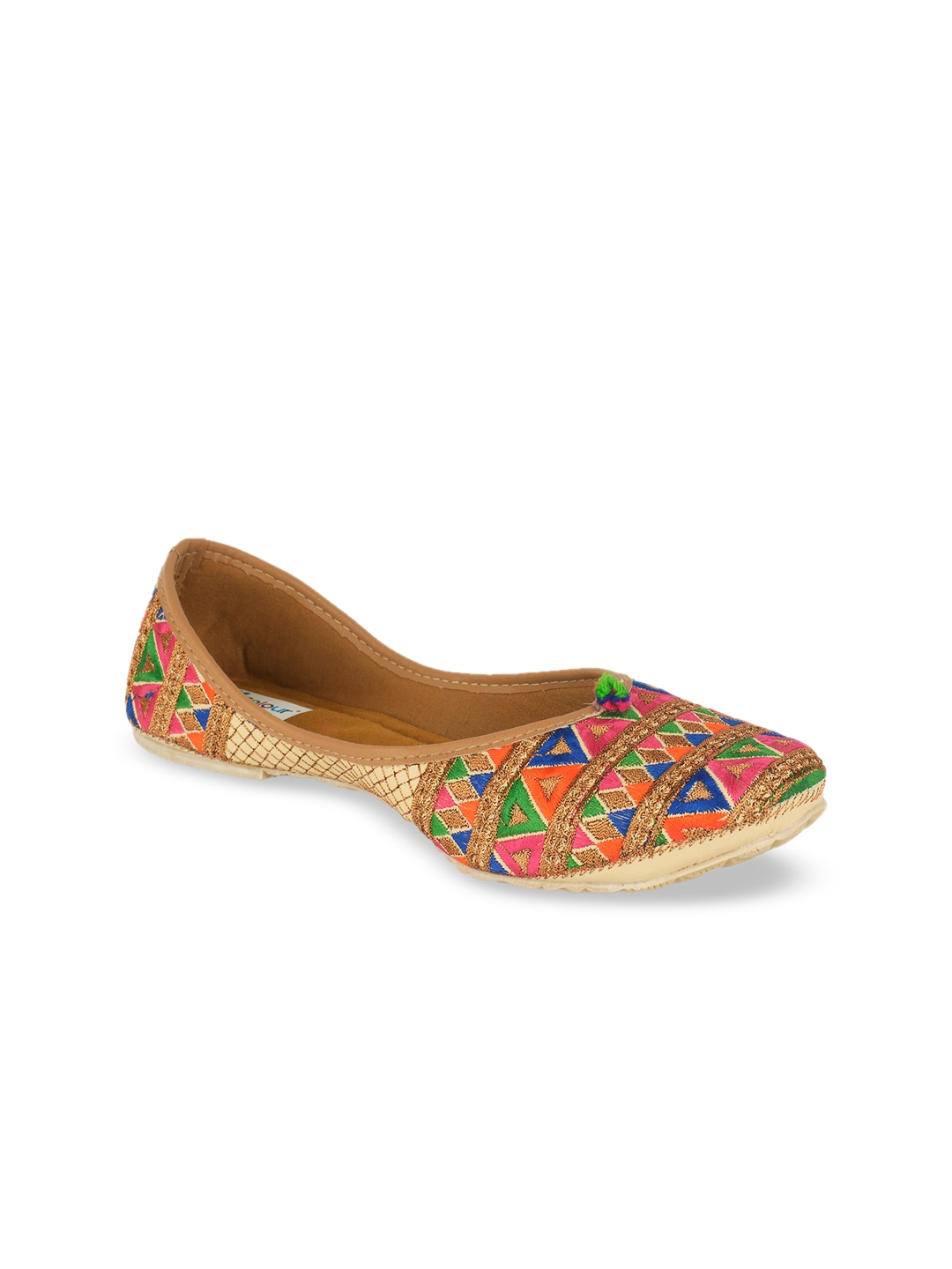 Multicoloured Embroidered Mojaris