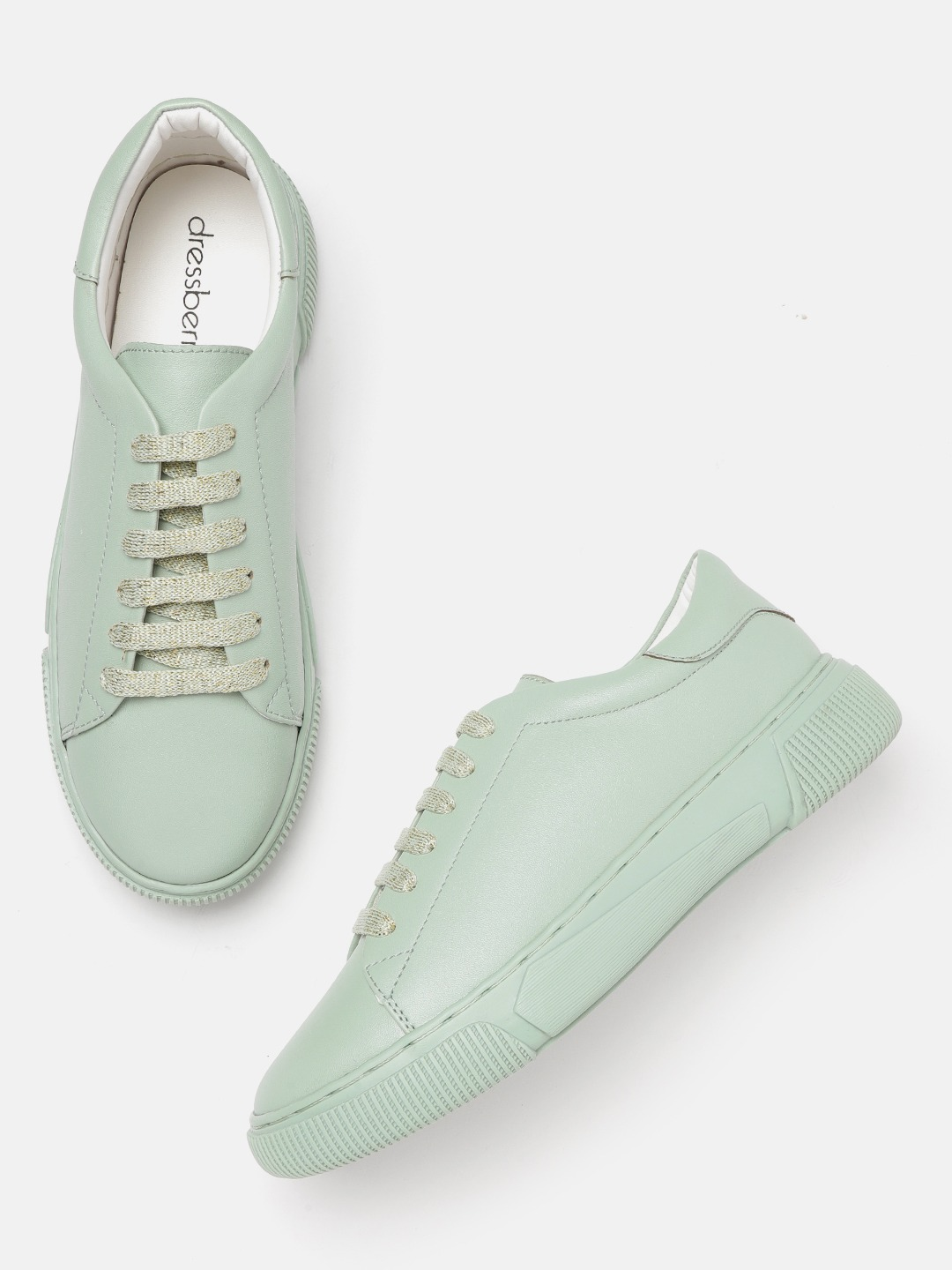Mint Green Solid Sneakers
