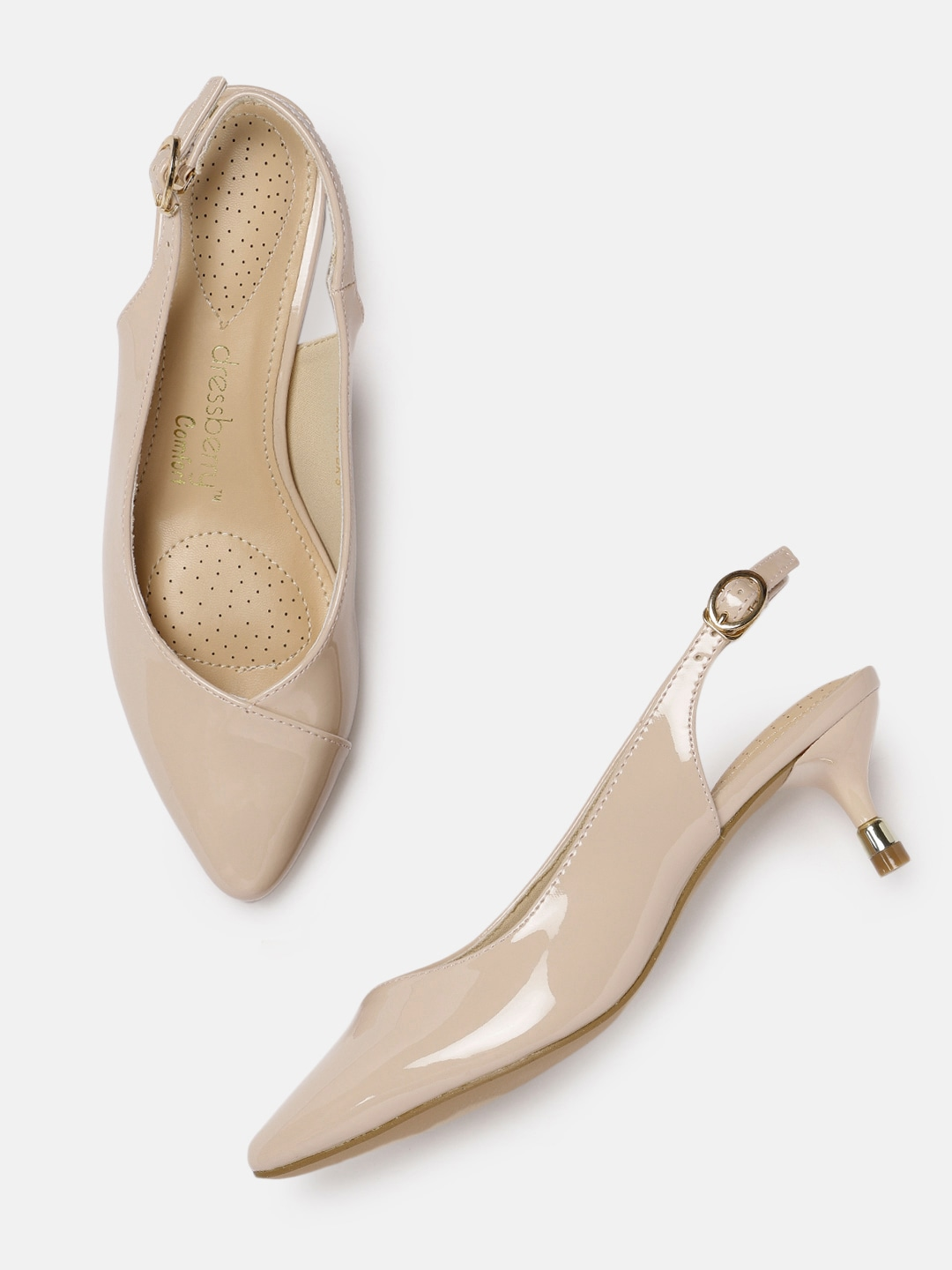 Nude-Coloured Solid Pumps