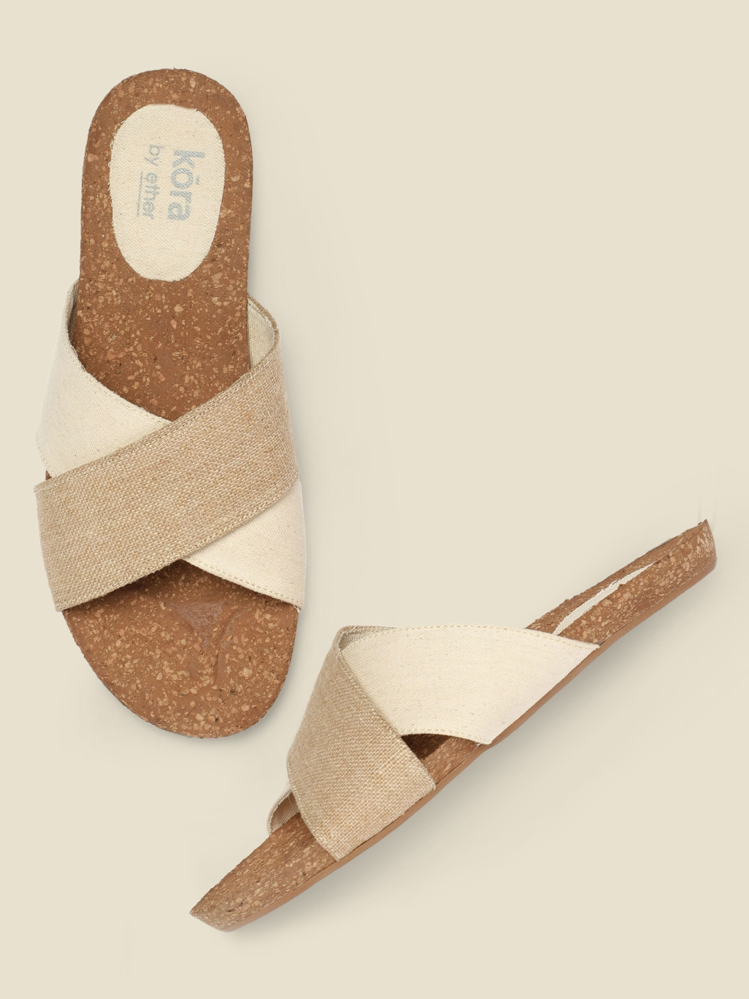 Collection Unbleached Kora and Jute Sustainable  Flats