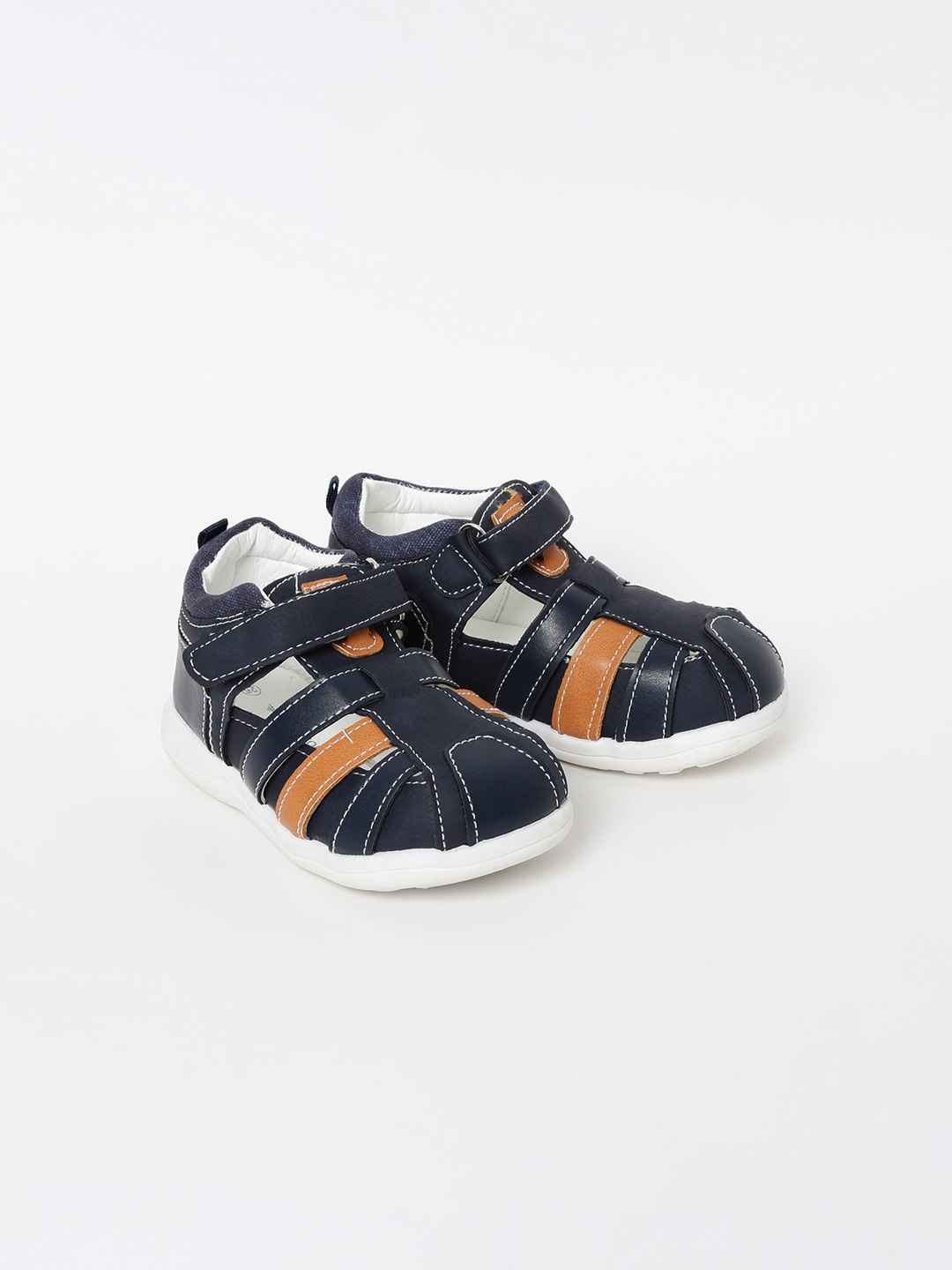 Navy Blue Shoe-Style Sandals