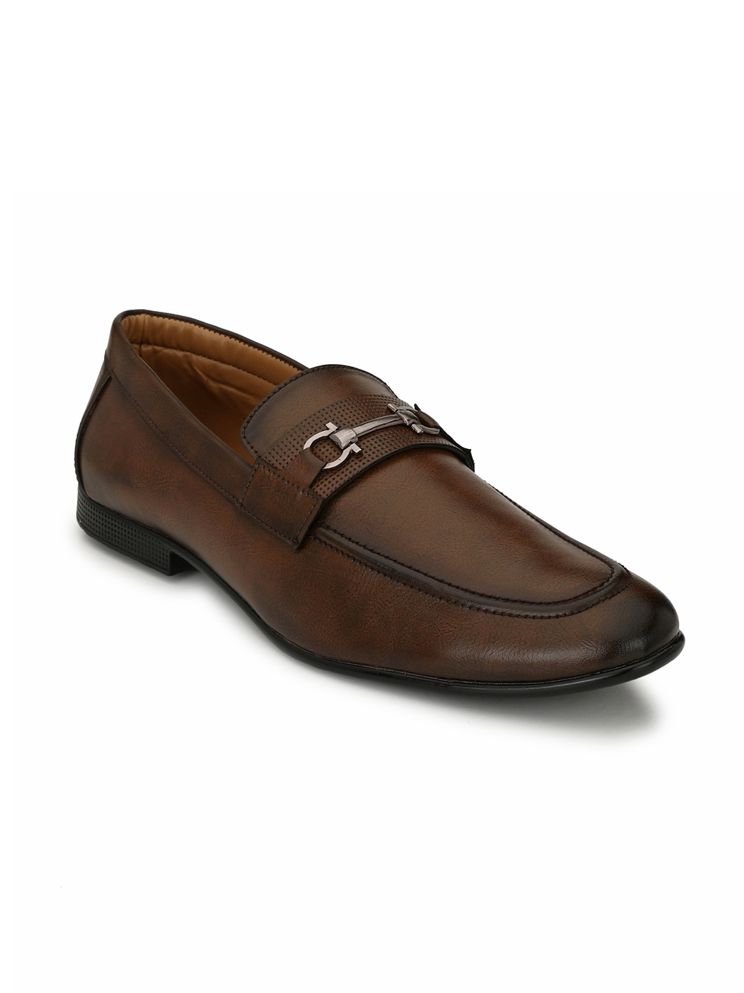 Leather Horsepit Loafers