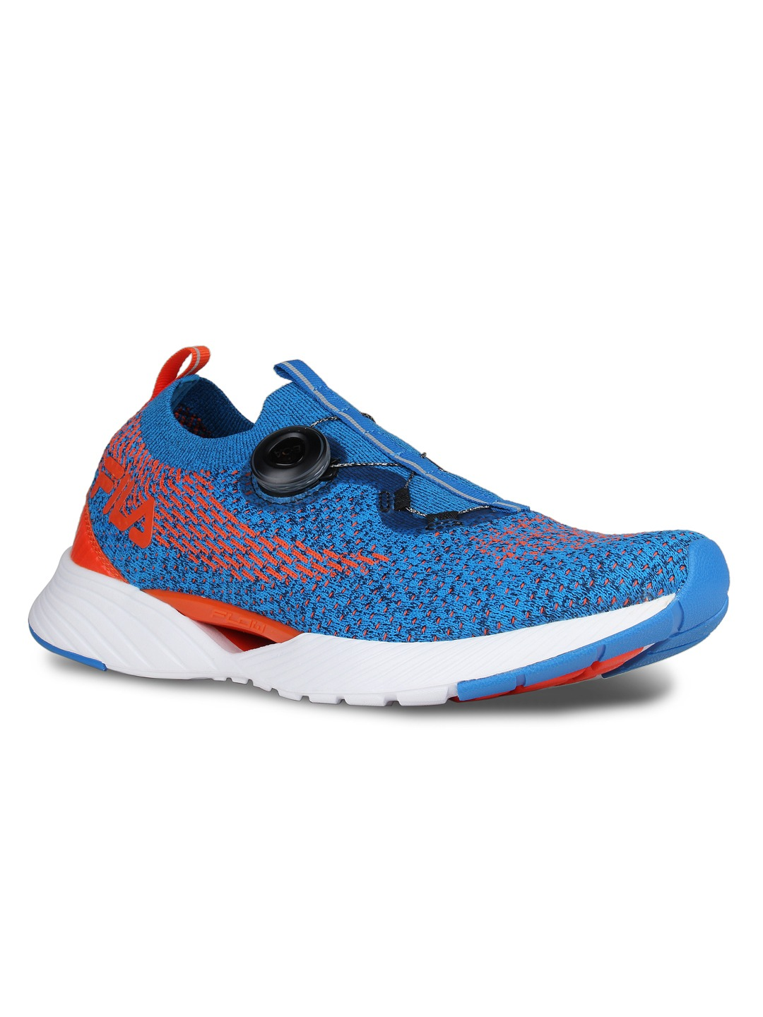 Blue & Orange V.1 Woven Design Running Shoes