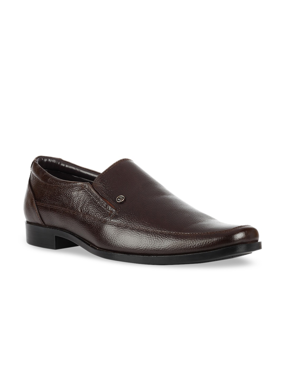 Brown Leather Formal  Slip-On Shoes