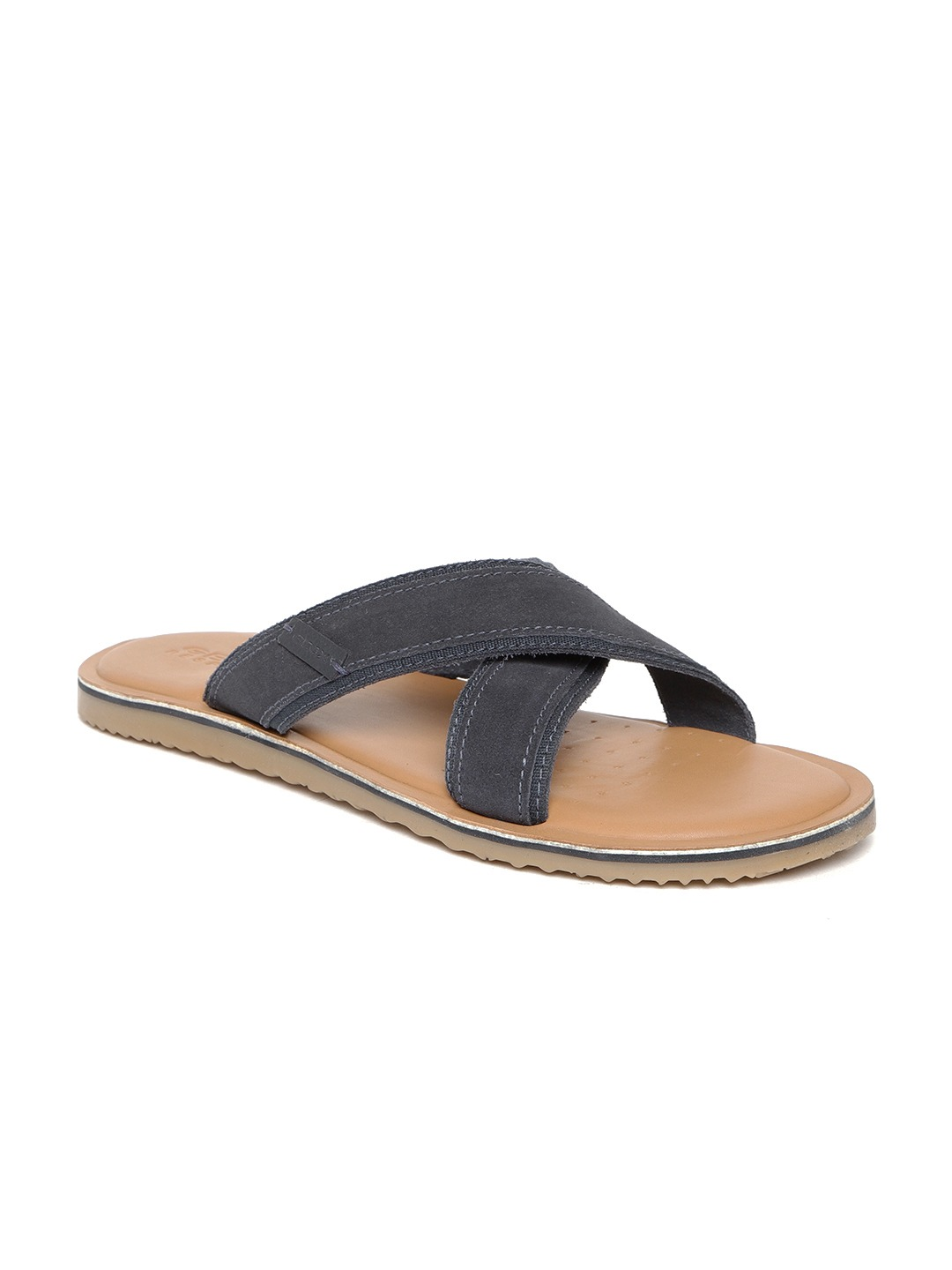Navy Blue Suede Comfort Sandals