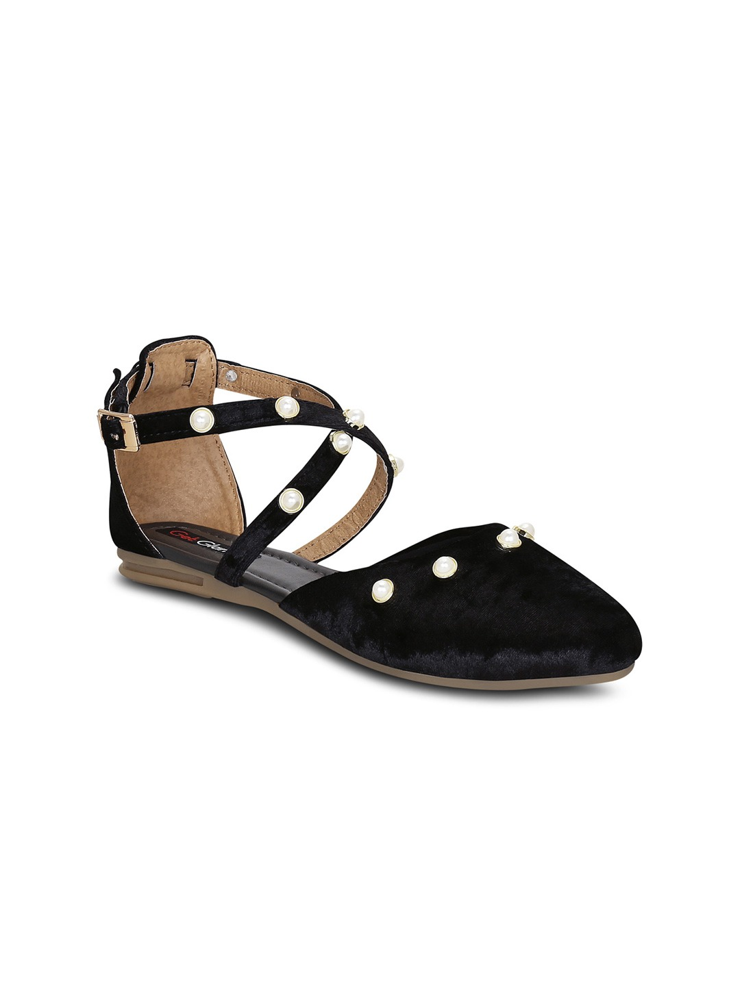 Black Solid Synthetic Suede Mules