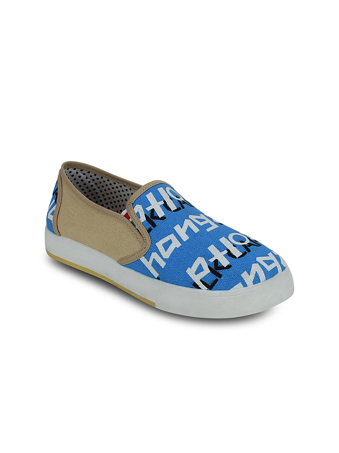 Blue Printed Slip-On Sneakers