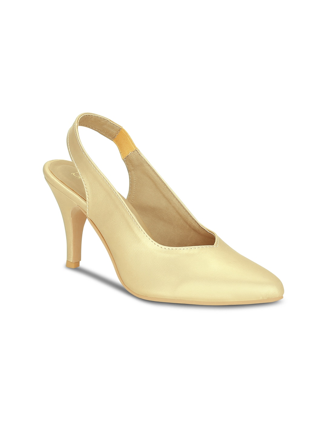 Gold-Toned Solid Heels