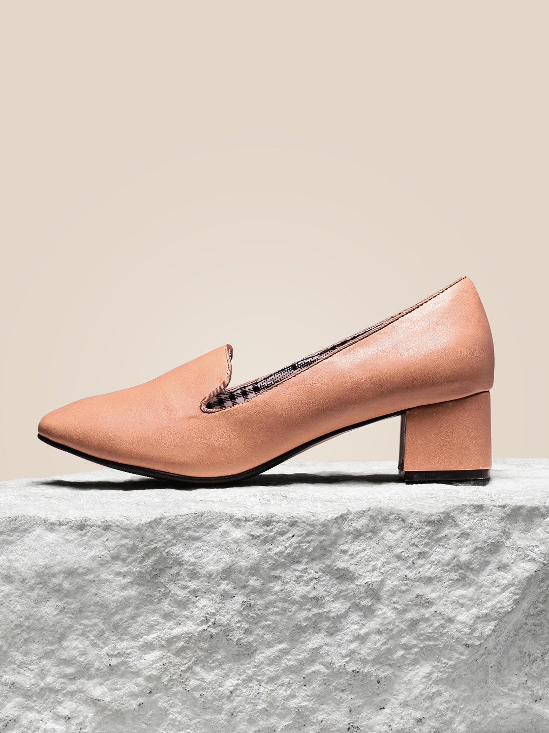 Pink Solid Cushioned Pumps