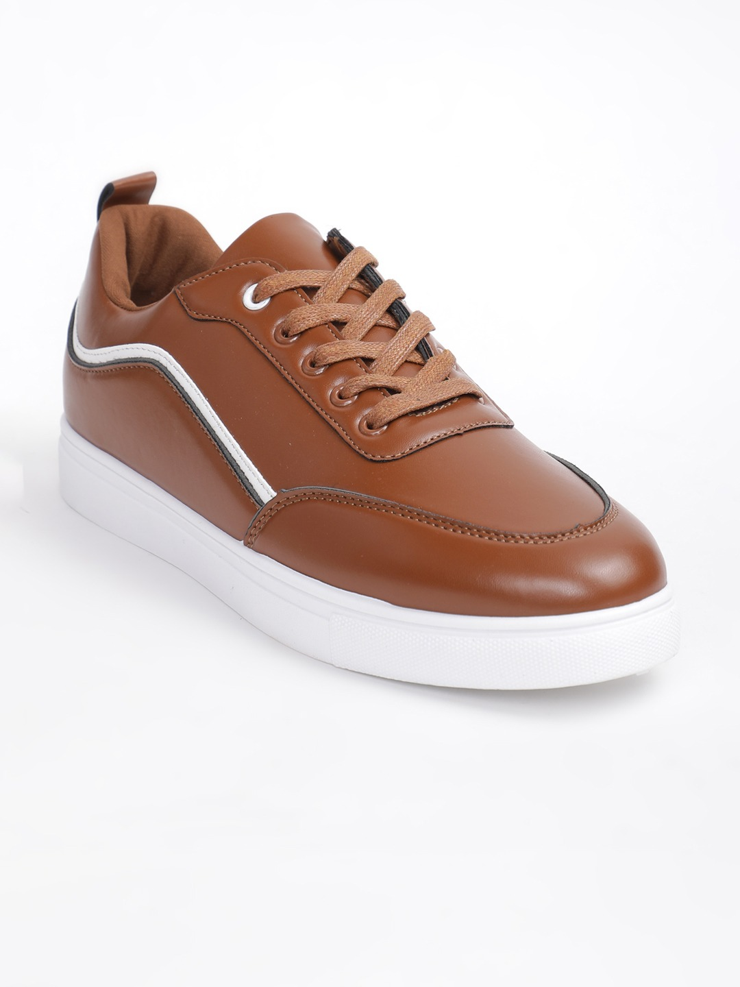 Tan Brown Solid Sneakers