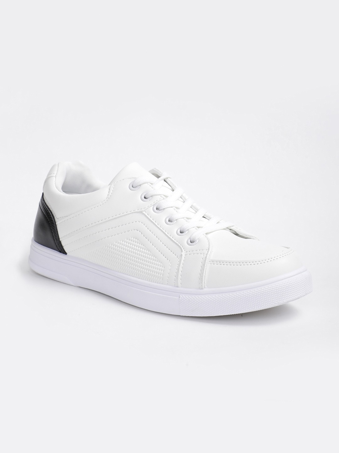 White Colourblocked Sneakers