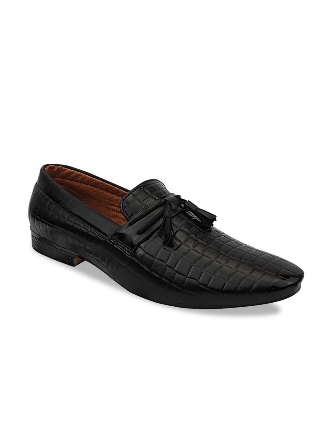 Black Synthetic Formal Loafers