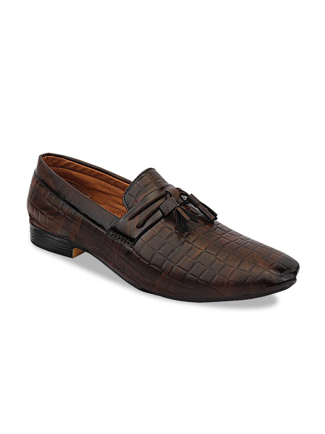 Brown Synthetic Formal Loafers