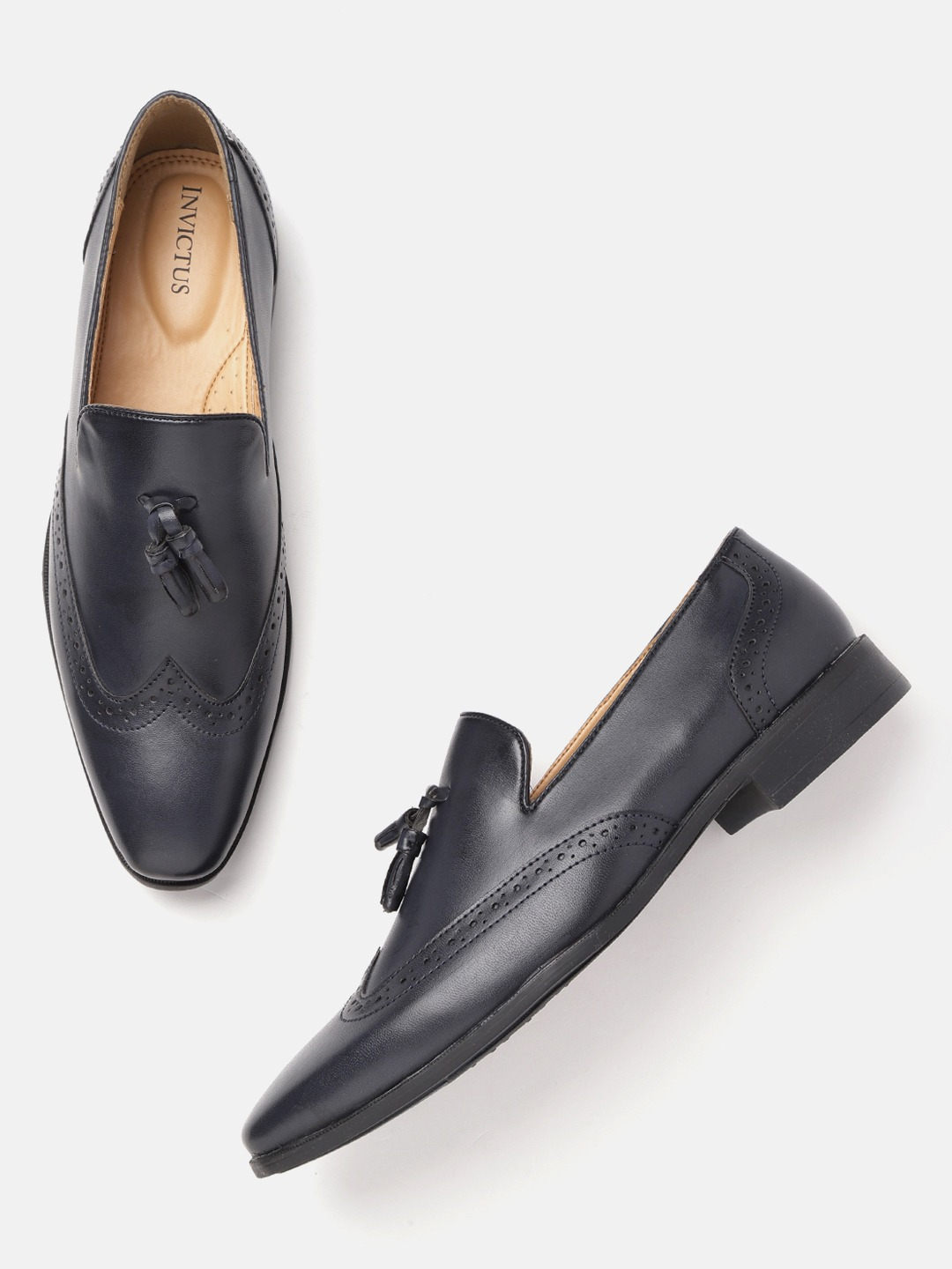 Navy Semiformal Slip-On Brogues