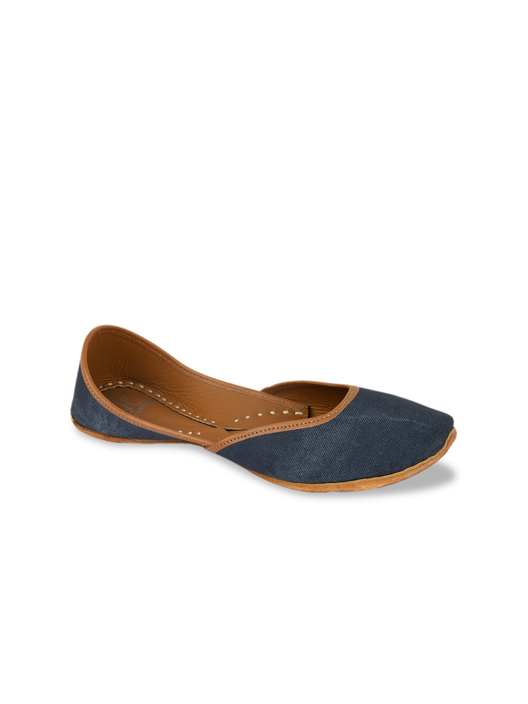 Blue Solid Handcrafted Mojaris