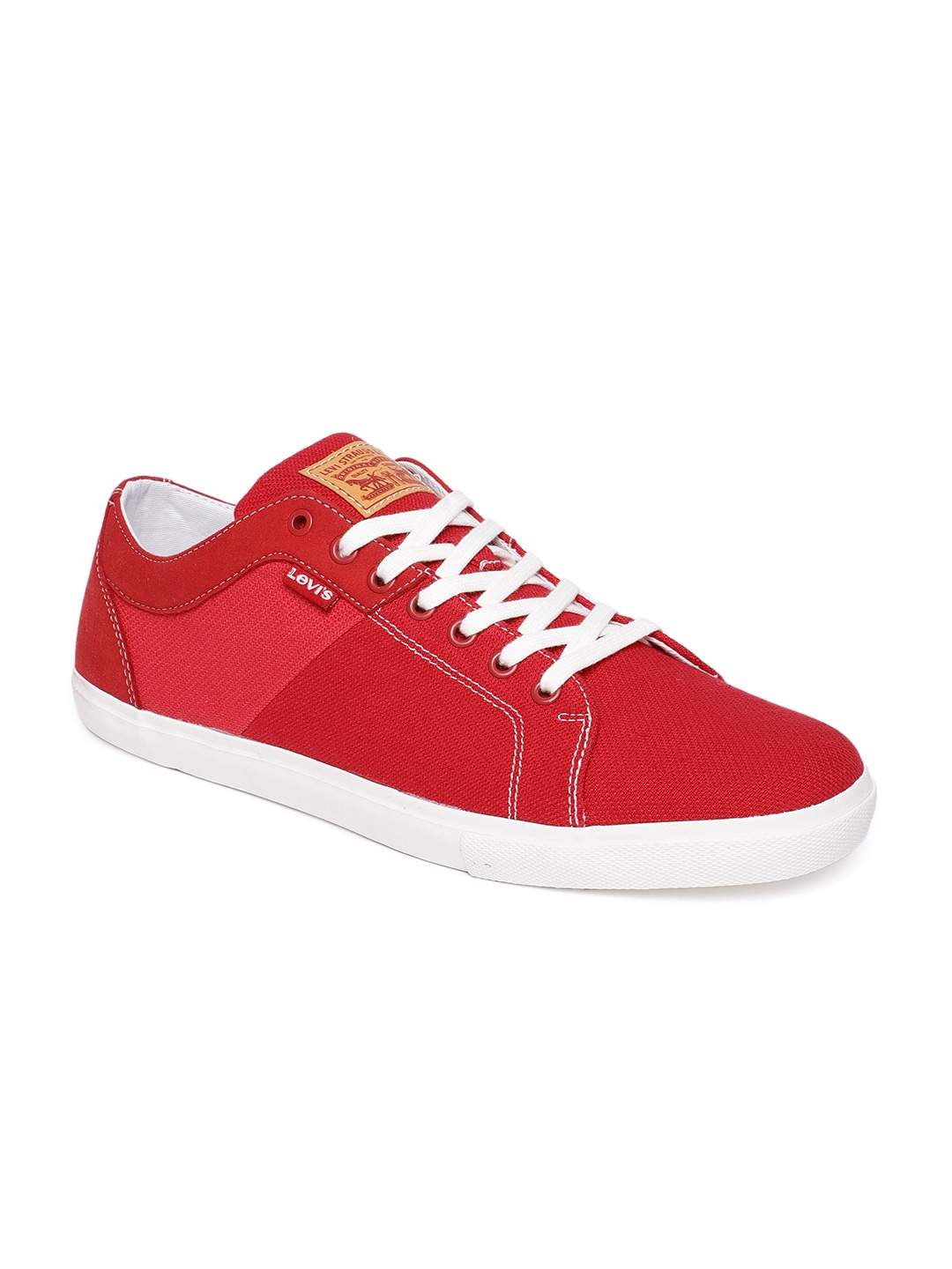 Red Solid Sneakers