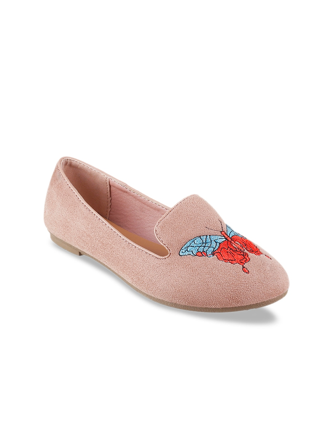 Pink Embroidered Ballerinas