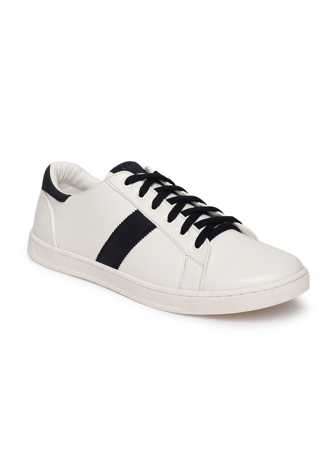 White Solid Sneakers