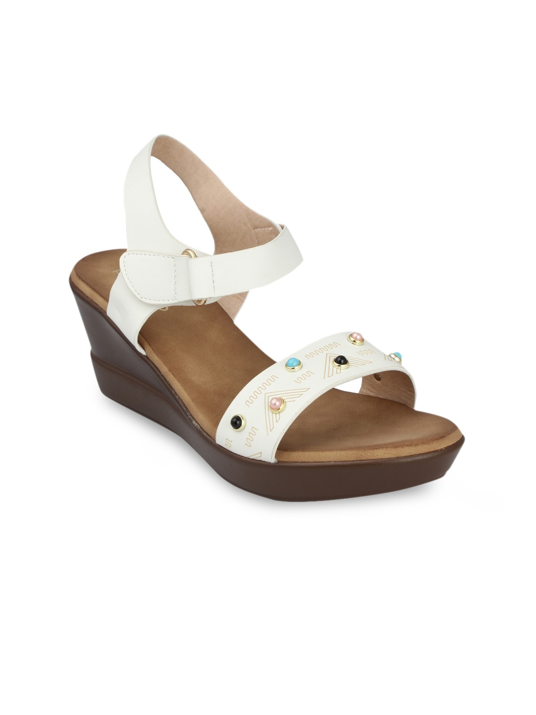 White Solid Sandals