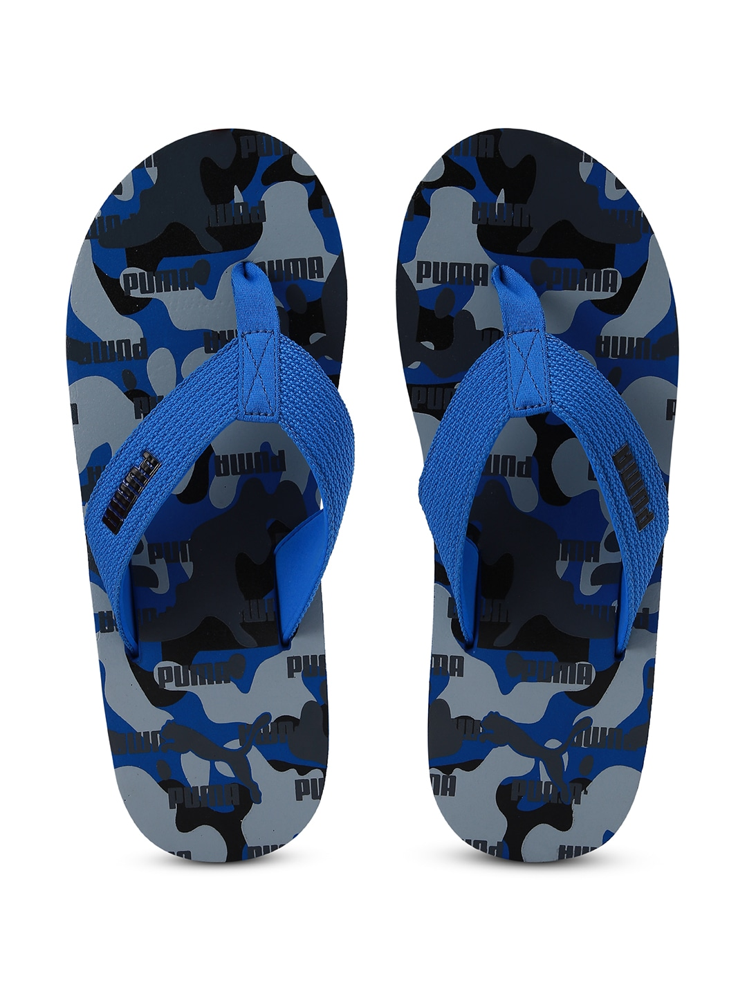 Blue & Grey Solid Gypsum GU IDP Thong Flip-Flops