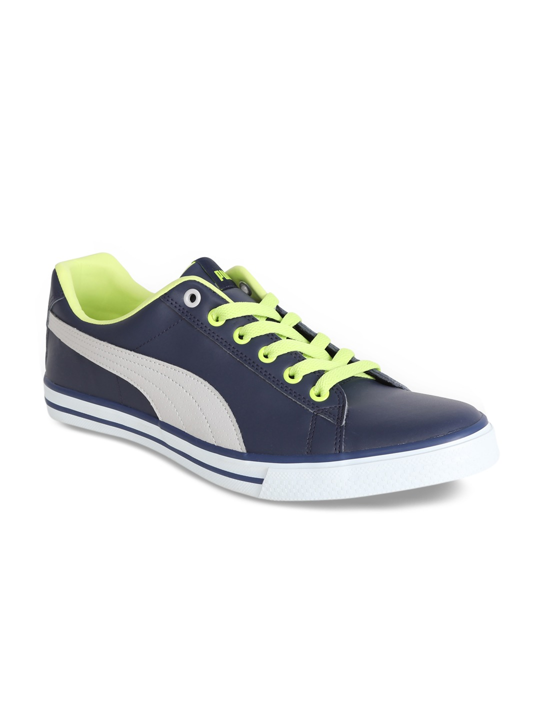 Navy Blue Colourblocked Sneakers
