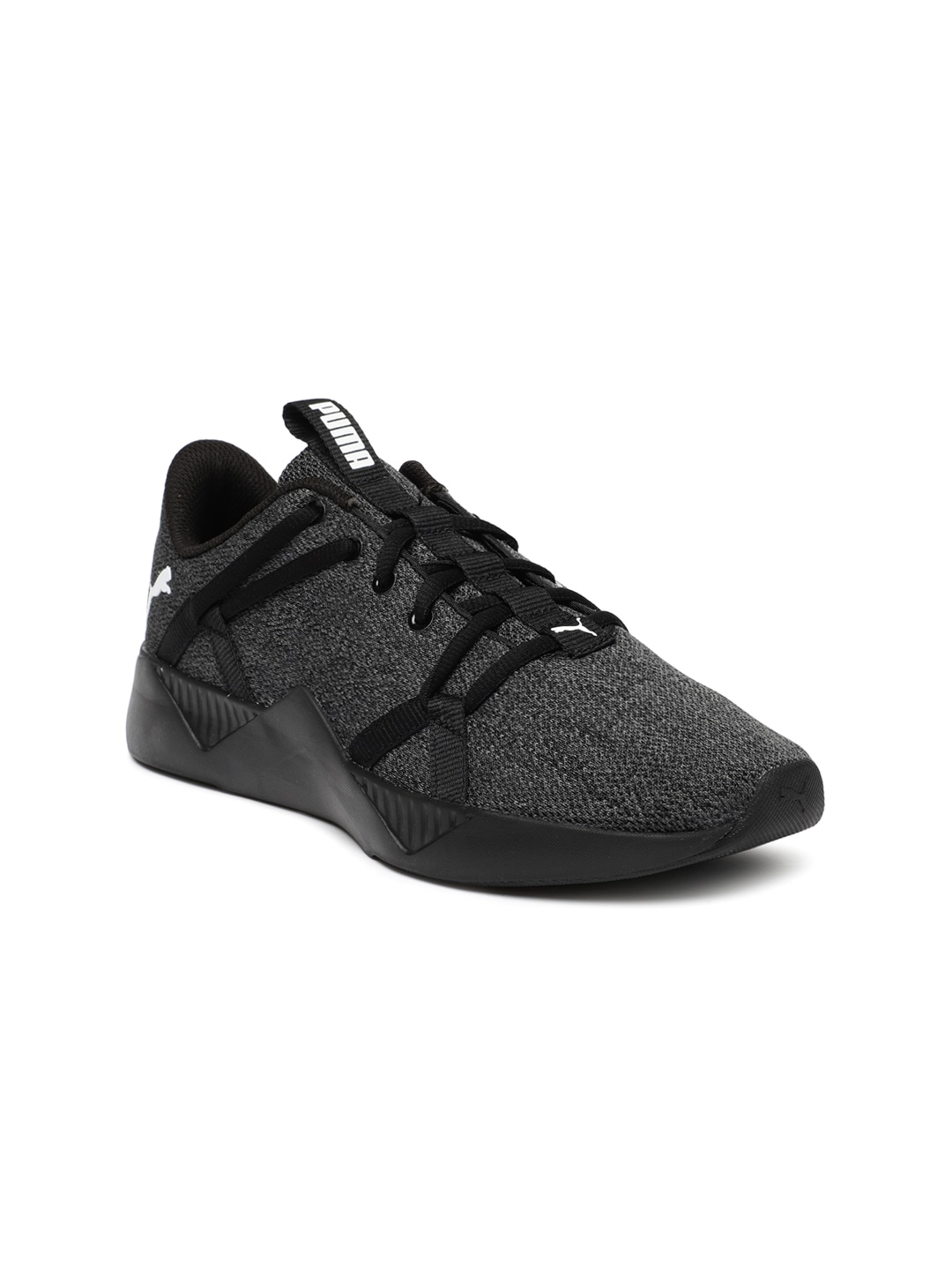 Black Incite Knitted Training Shoes