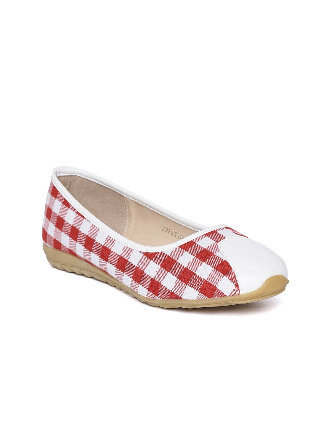 Red Checked Ballerinas