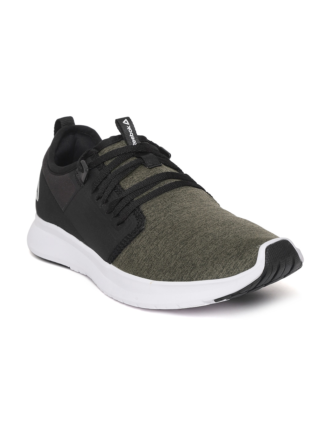 Black & Olive Green Plus Lite LP Running Shoes