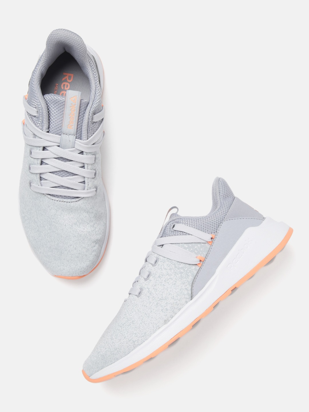 Grey Solid Ever Road DMX 2.0 Woven Design Walking Shoes