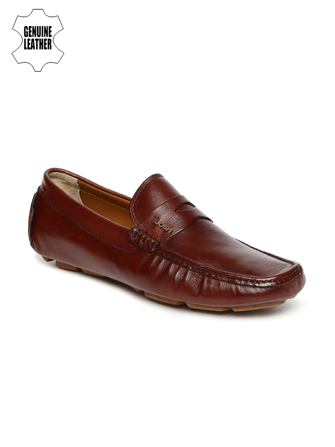 Brown Leather Driving Shoes