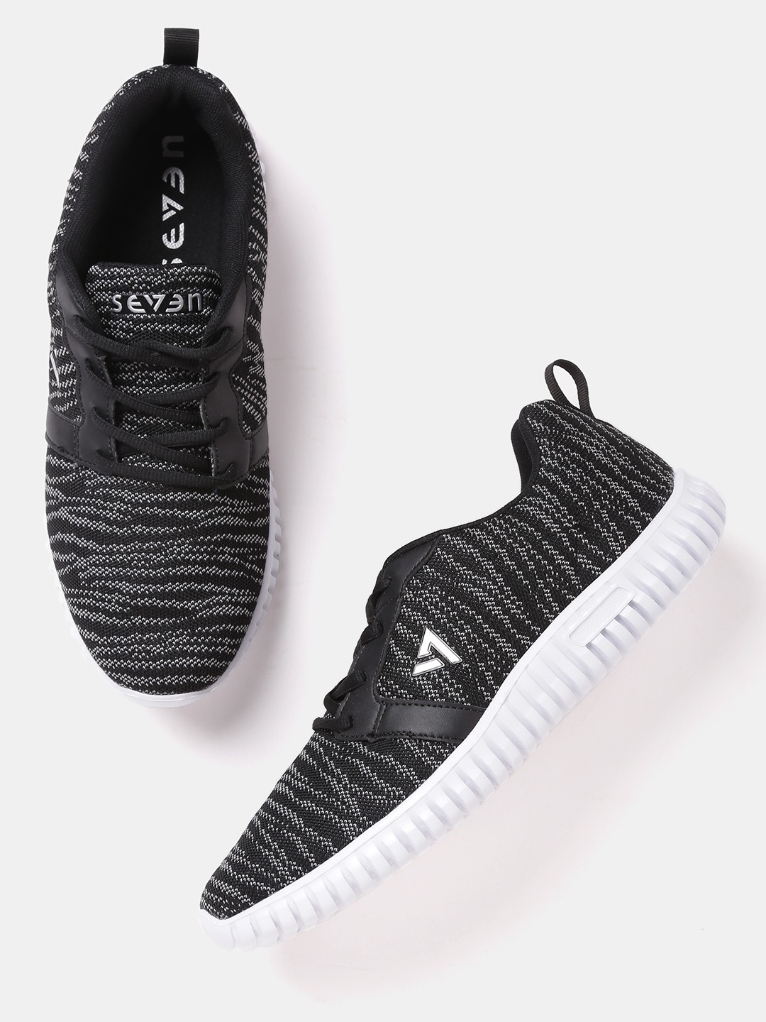 Black & Off-White Galaxy Trail Running Shoes