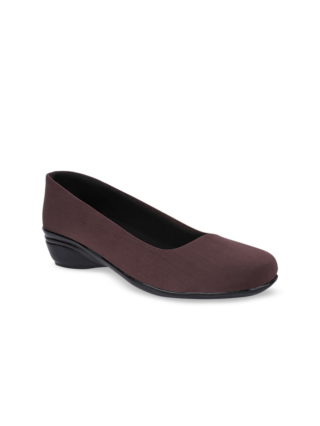 Brown Solid Ballerinas