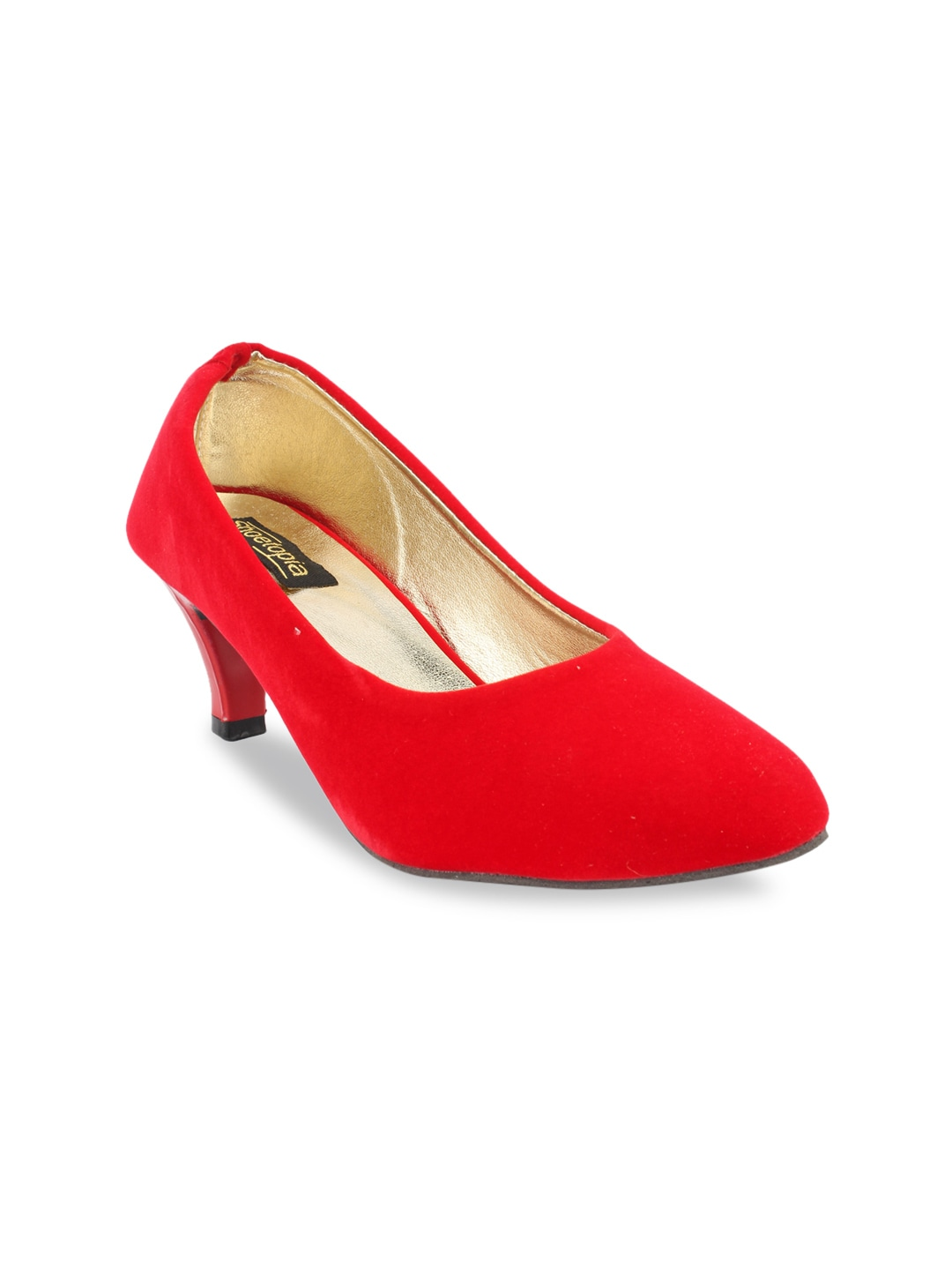 Red Solid Pumps