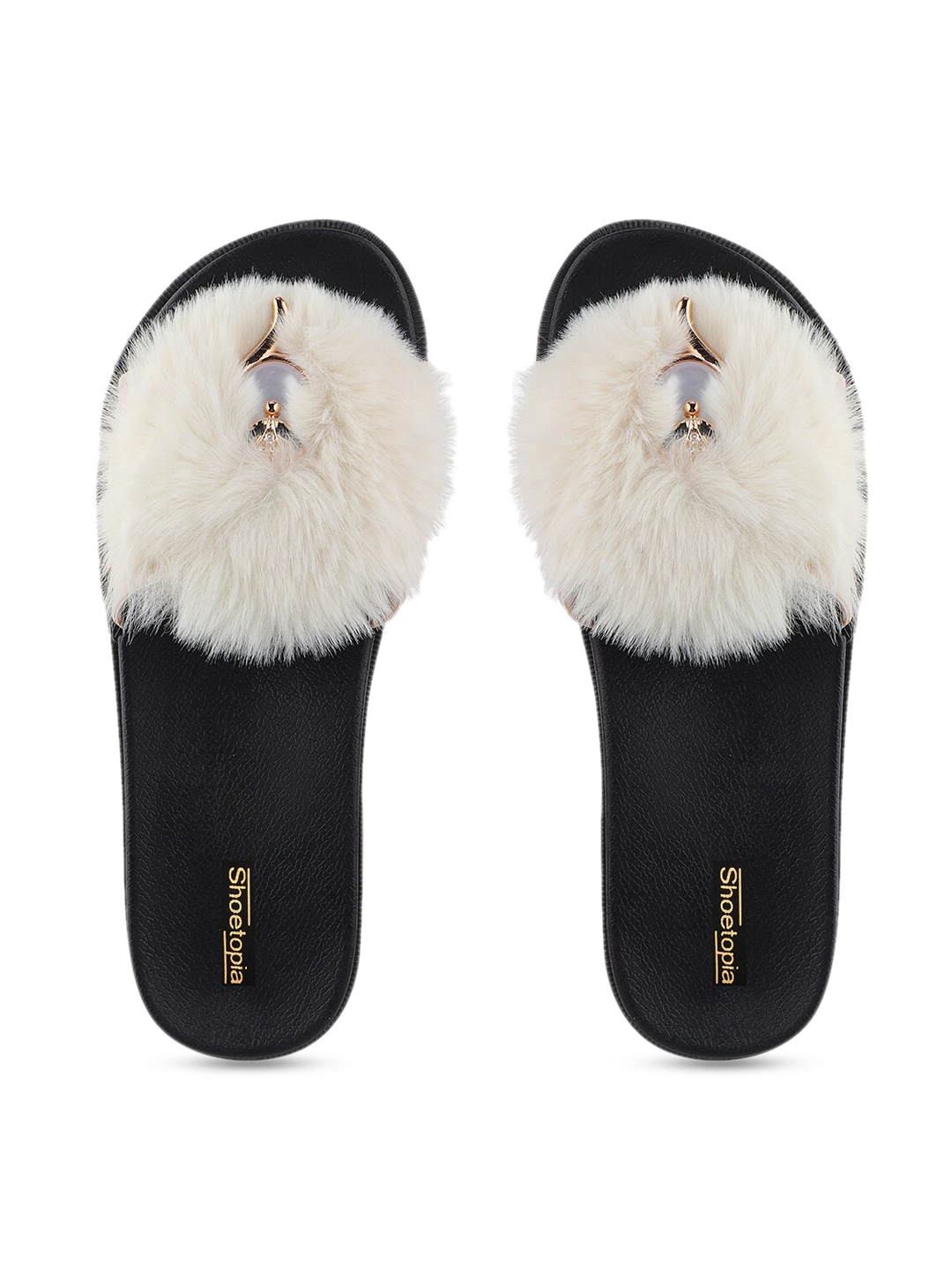 White Solid Room Slippers